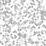 Popielaty abstrakta kwadrata wzoru tło - wektorowa ilustracja od diagonalnych kwadratów Obrazy Royalty Free