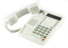 popielaty biurowy telefon Fotografia Stock
