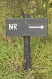 Popielaty drewniany znak z Holenderskim tekstem ŻADNY Zdjęcie Royalty Free