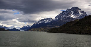 Popielaty jezioro, Torres Del Paine, Chile Obraz Stock