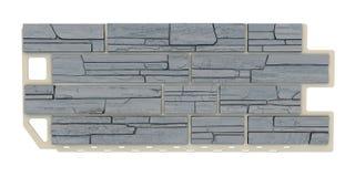 Popielaty Kamienny fasadowy panel Zdjęcia Royalty Free