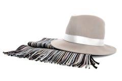 popielaty kapelusz Obraz Royalty Free