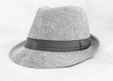 Popielaty kapelusz Zdjęcia Stock