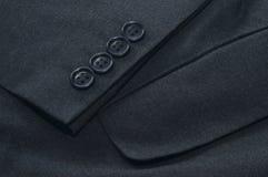 popielaty kurtki kieszeni rękawa kostium Zdjęcia Royalty Free