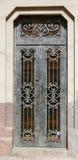Popielaty metalu drzwi Obrazy Stock