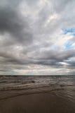 Popielaty morze bałtyckie Zdjęcie Royalty Free