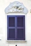 Popielaty nadokienny jerago pałac Italy abstrakt Fotografia Stock