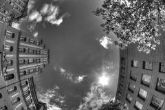 Popielaty niebo Berlin, Niemcy Zdjęcie Stock