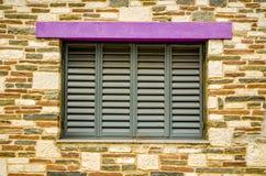 Popielaty okno Fotografia Stock