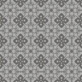 Popielaty Ornamentacyjny Bezszwowy linia wzór Zdjęcia Stock