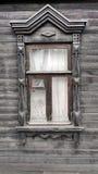 Popielaty stary okno Obrazy Royalty Free
