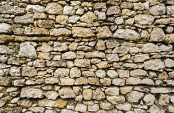 Popielaty stary stonewall jako tło Obraz Stock
