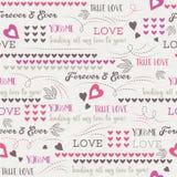 Popielaty tło z czerwonym valentine sercem i życzenie tekstem, vect Zdjęcia Royalty Free