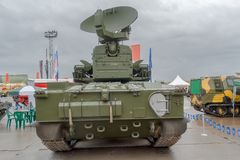 Popiera antiaircraft pistoletu system rakietowy Tunguska Fotografia Stock