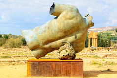 Popiera Półpostać Di Ikaro, Agrigento - Fotografia Stock