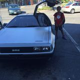 Popiera Przyszłościowy samochód Zdjęcie Royalty Free