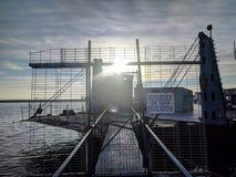 Popiera statek na Czarnym morzu zdjęcia royalty free