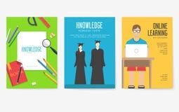 Popiera szkół ewidencyjne karty ustawiać Studencki szablon flyear, magazyny, plakaty, książkowa pokrywa, sztandary college ilustracja wektor