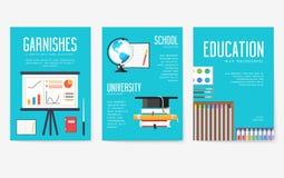 Popiera szkół ewidencyjne karty ustawiać Studencki szablon flyear, magazyny, plakaty, książkowa pokrywa, sztandary college ilustracji