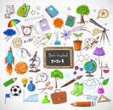 Popiera szkół duzi doodles ustawiający Zdjęcie Stock