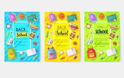 Popiera szkół ewidencyjne karty ustawiać Studencki szablon flyear, magazyny, plakaty, książkowa pokrywa, sztandary college royalty ilustracja