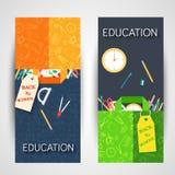 Popiera szkół ewidencyjne karty ustawiać Studencki szablon flyear, magazyny, plakaty, książkowa pokrywa, sztandary Szkoły wyższej ilustracji