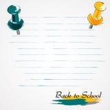 Popiera szkół rysunkowe szpilki Obraz Stock