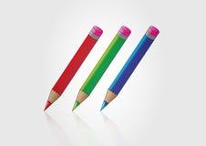 Popiera szkoła i ołówek Royalty Ilustracja