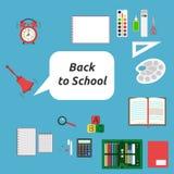 Popiera szkoła, materiały Zdjęcie Royalty Free