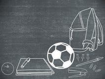 Popiera szkoła, pisać na blackboard fotografia stock