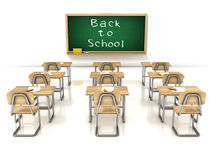 Popiera szkoła - sala lekcyjna na białym tle Obraz Royalty Free