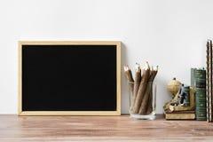 Popiera szkoła skład wliczając pustego kopii przestrzeni blackboard zdjęcie royalty free