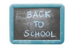 Popiera szkoła tekst na chalkboard odizolowywającym Zdjęcia Royalty Free