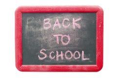 Popiera szkoła tekst na chalkboard odizolowywającym na bielu Obraz Royalty Free