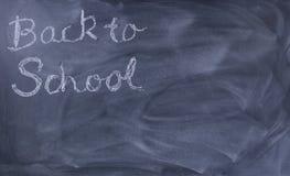 Popiera szkoła tekst na wymazującym chalkboard Obraz Stock