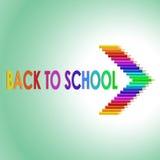 Popiera szkoła tekst z barwionymi ołówkami Zdjęcie Royalty Free