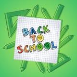 Popiera szkoła teksta tła rysunkowy sztandar Fotografia Stock