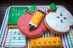 Popiera szkoły dekorujący ciastka Obrazy Royalty Free