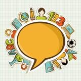 Popiera szkoły edukaci kolorowe ikony. royalty ilustracja