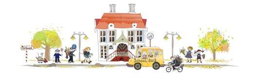 Popiera szkoły tło ilustracja wektor