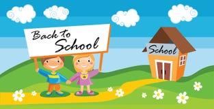Popiera szkoła szablon z dzieciakami Zdjęcie Stock