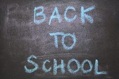 Popiera szkoła tekst na chalkboard Obrazy Royalty Free