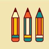 Popiera szkoły ikony wektoru ilustracja Obrazy Royalty Free
