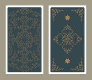 Popiera Tarot karta dekorująca z ornamentacyjnymi grafika i gwiazdami ilustracja wektor