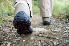 Popiera trekking buty Obrazy Stock