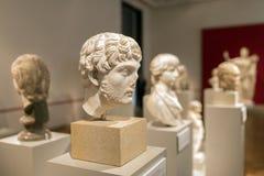 Popiersia grek Philosphers i cesarzi w Altes muzeum Berlin Zdjęcia Royalty Free
