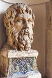 Popiersie statua Popiersie rzeźba wśród willa d Este zdjęcie stock