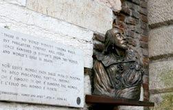 Popiersie Szekspir w Verona Obrazy Royalty Free