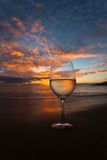Popijania wino na Kihei linii brzegowej Zdjęcie Stock