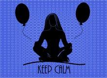 Popkonst också vektor för coreldrawillustration Den gulliga flickan mediterar yoga poserar tecknad filmvektorillustrationen Arkivfoton
